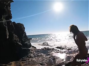 Rahyndee James public beach penetrating point of view