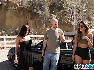 shaft longing pick up with Sophia Leone and Gina Valentina