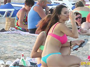 voyeur Beach red-hot Blue swimsuit panty unexperienced nubile flick