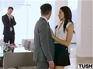 TUSHY secretary Gets DP'd By boss And buddy