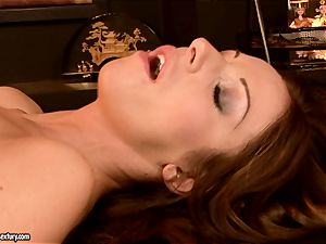 innocent gal Debbie white is impaled in the gullet with aged guy man sausage