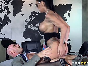 fat jugged Peta Jensen drilled throughout the boardroom table