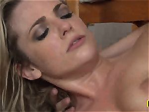 Bailey Blue gets her clean-shaven labia slammed with stiffy