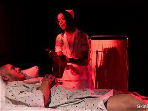 Behind the scenes with stunning nurse flesh Diamond
