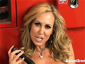 torn up Brandi love undresses and drains