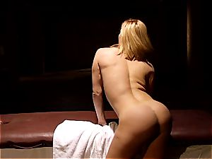 insatiable masseuse makes Krissy Lynn jiggle after sensuous enjoy making