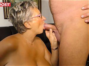 German granny loves fucking her Neighbor #LETSDOEIT