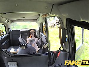 faux cab Olive skin redhead in undergarments