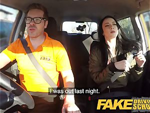 fake Driving school hard fucky-fucky and internal cumshot on second lesson