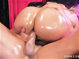 Oiley Mercedes Carrera drilled phat time by fat man sausage