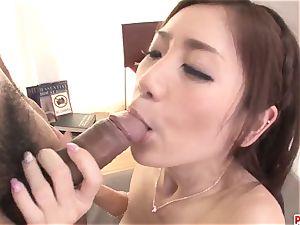 Kaori Maeda gets serious pipe to plow down her fur covered