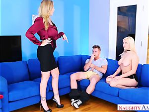 nasty stepmother Julia Ann desires of her daughter's new bf