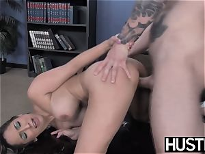 promiscuous cheerleader Leya Falcon demolished by IR buttfuck