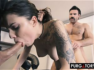 PURGATORY I let my wife shag two guys in front of me
