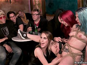 Spanish punker lezzie domination fisted in public