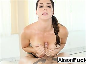 Alison Tyler gives a cool fellate job with titty plumbing