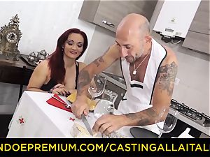 casting ALLA ITALIANA - big-chested new-cummer heads for anal fuck-fest