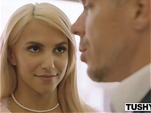 TUSHY Sugar dad Gapes His Sugar Baby And Her finest friend
