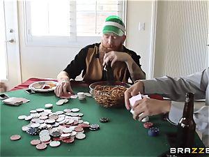 Sarah Jessie smashing her husbands poker buddy