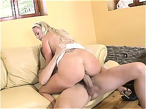 platinum-blonde nailed hard in the office