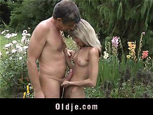 Gina Gerson gets buttfuck from an senior man