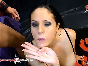 mother Juliette tries the German mass ejaculation Arena
