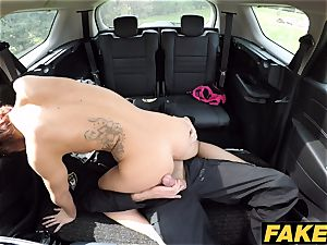 faux Cop Cop blows a load two times for luxurious ginger-haired