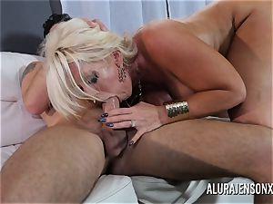 meaty titty cougar Alura Jenson enjoys screwing junior dudes