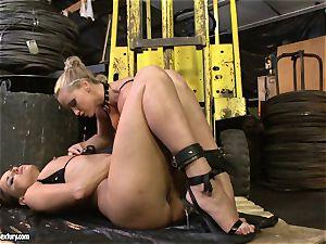 Andy dark-skinned and Kathia Nobili butt dildoing rock-hard