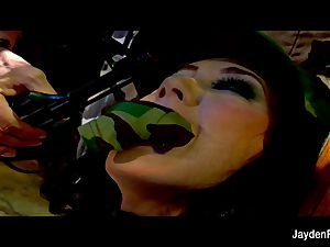 Army nailing with huge-boobed dark haired Jayden Jaymes