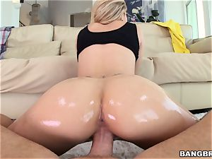 Jessa Rhodes is greased up and prepared to be plowed