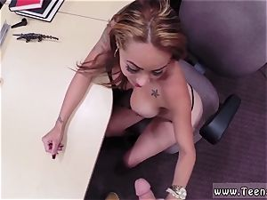 Real unexperienced homemade big mounds horny mega-bitch brought in a gun, she still got pounded