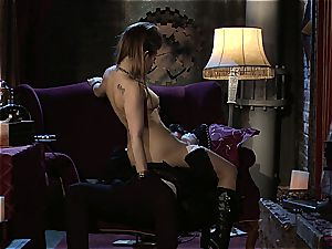 Dani Daniels implementing cogs and cocks in her steampung fantasy
