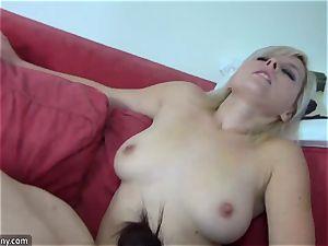OldNanny lezzies damsel with giant bra-stuffers