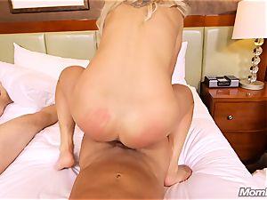 super-fucking-hot Swedish platinum-blonde drills 2 ample weenies