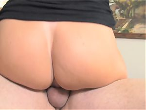 Pretty milf India Summers and Alison Tyler smashed in the smallish pussyhole