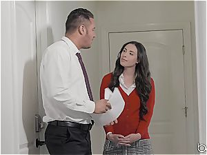 Seduced by a mind-blowing dark haired dame