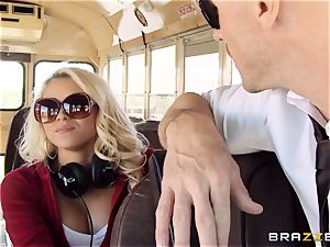 ultra-kinky hitchhiker Marsha May ravaging scorching bus driver