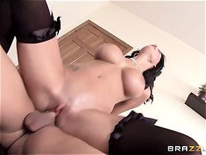 huge-chested maid Peta Jensen gets torn up by her master's impudent son
