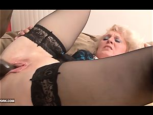 dark-hued fuckpole craving for grandma in hard-core interracial