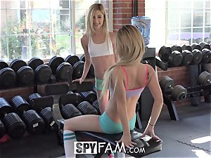 SpyFam Step brutha Catches Step Sisters eating labia