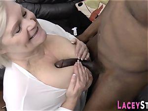 grannie licks black cumbot