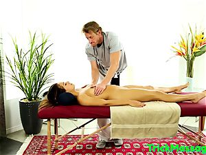 massaged hottie torn up On All 4s