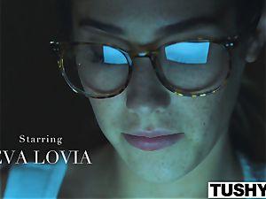 TUSHY Eva Lovia ass fucking video part trio