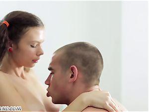 Undergraduate seduced by the sweet Russian female Alena