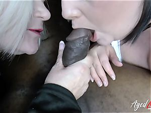 AgedLovE huge-titted hotel Maid Lacey Starr threesome