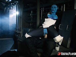 Space pornography parody with molten alien Rachel Starr