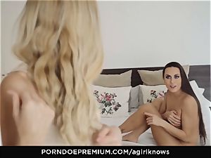 A lady KNOWS - Mea Melone in strong girl/girl intercourse