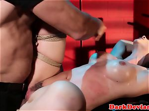 lashed Chanel Preston pummeled while tiedup