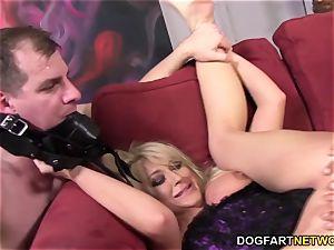 cuckold bitch Leya Falcon takes ass fucking tearing up